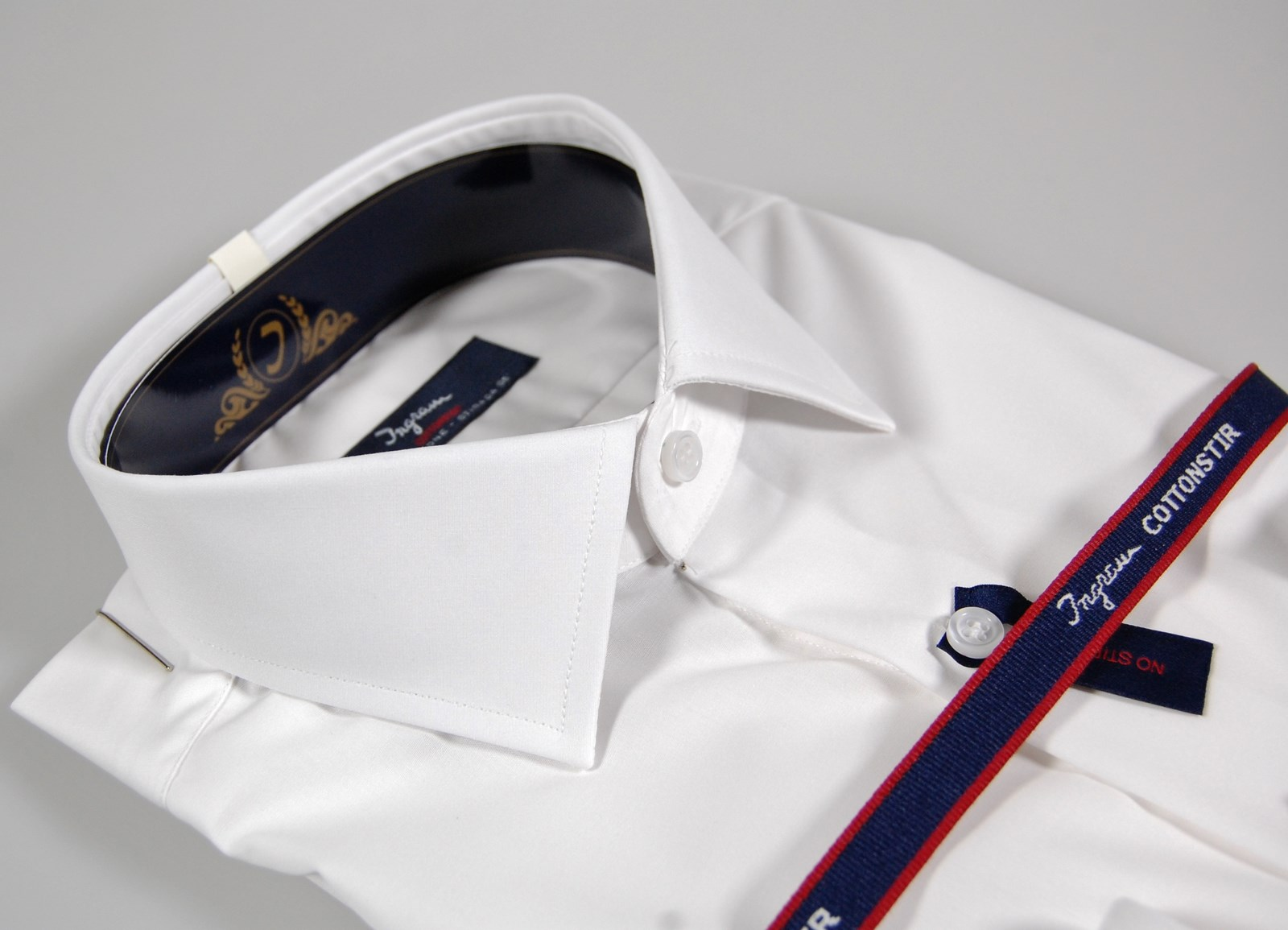 b4c74f78ff Dettagli su Camicia Ingram CottonStir bianca Slim Fit collo francese cotone  No Stiro TG 37